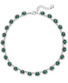 """Crystal Collar Necklace, 17"""" + 2"""" extender, Created for Macy's"""