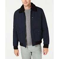 Deals on Calvin Klein Mens Military Flight Jacket With Sherpa Collar