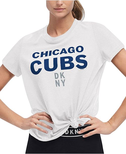 DKNY Women's Chicago Cubs Players Tie T-shirt
