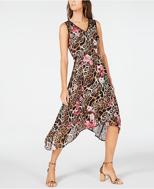 INC International Concepts INC Handkerchief-Hem Midi Dress, Created for Macy's