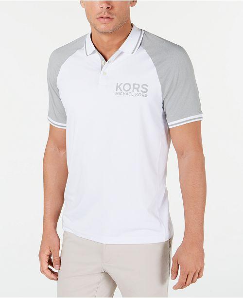 Michael Kors Men's Performance Sport Raglan Polo Shirt