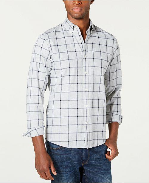 Michael Kors Men's Slim-Fit Stretch Plaid Shirt, Created For Macy's