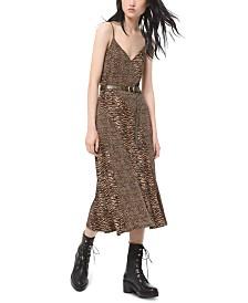 Michael Michael Kors Leopard-Print Camisole Dress