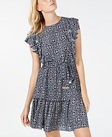 Ruffled Tiered Dress, Regular & Petite Sizes