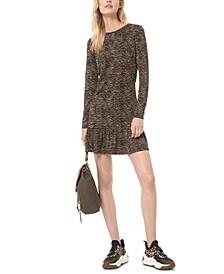 Leopard Print Jacquard Dress