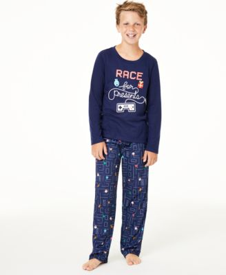 Matching Kids Race For Presents Pajama Set, Created for Macy's