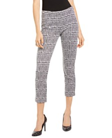 Michael Michael Kors Plaid Cropped Pants, Regular & Petite Sizes