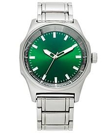 INC Men's Silver-Tone Bracelet Watch 45mm, Created for Macy's