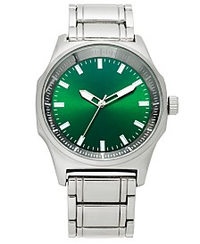 I.N.C. Men's Silver-Tone Bracelet Watch 45mm, Created for Macy's