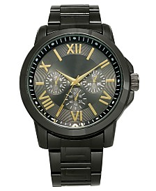 I.N.C. Men's Gunmetal Gray Bracelet Watch 46mm, Created For Macy's