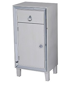 Heather Ann Avery Mirrored Tall Accent Cabinet with Drawer