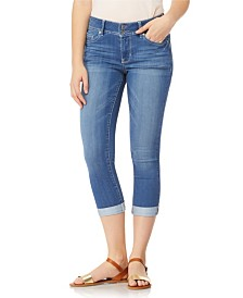 "WallFlower Ultra 23.5"" Roll Cuff Crop Capri Jeans"