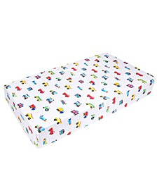 Trains, Planes and Trucks Fitted Crib Sheet