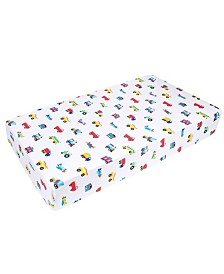 Wildkin's Trains, Planes and Trucks Fitted Crib Sheet