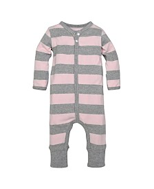 Burt's Bees Baby Organic Cotton Rugby Stripe Coverall