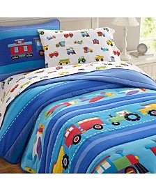 Wildkin's Trains, Planes, Trucks Twin Sheet Set