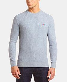 Lacoste Men's Crew Neck Rainbow Logo Sweater
