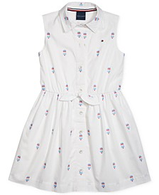 Big Girls Sleeveless Dress with Magnetic Buttons