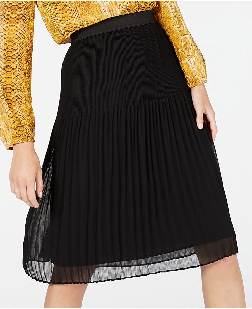 INC International Concepts INC Pleated Midi Skirt, Created for Macy's