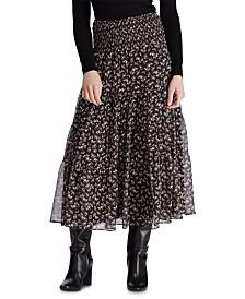Lauren Ralph Lauren Floral-Print Tiered Georgette Peasant Skirt