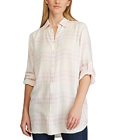 Lauren Ralph Lauren Plaid-Print Button-Down Shirt