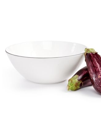 Black Line Vegetable Bowl, Created For Macys