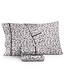 Whim By Martha Stewart Collection Novelty Print Twin XL 3-Pc. Sheet Set, 250 Thread Count 100% Cotton Percale, Created For Macy's