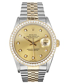 Men's Swiss Automatic Datejust Jubilee Diamond 18K Gold & Stainless Steel Bracelet Watch 36mm