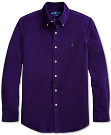 Men's Classic Fit Corduroy Button-Down Shirt