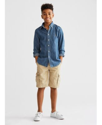 Big Boys Cotton Chambray Sport Shirt