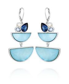T Tahari Stone and Shells Drop Earring