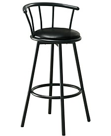 2 Piece Leather Look Bar Stool Set