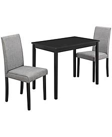 3 Piece Linen Dining Set