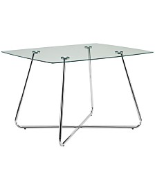 """Monarch Specialties 36"""" x 48"""" Clear Dining Table"""
