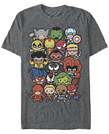 Marvel Men's Comic Collection Kawaii Marvel Men's Dogpile Short Sleeve T-Shirt