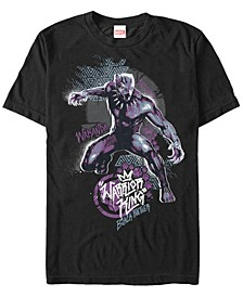 Men's Black Panther Geometric Warrior King Short Sleeve T-Shirt