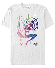 Men's Spider-Man Into The Spiderverse Neon Watercolor Spider-Man Short Sleeve T-Shirt