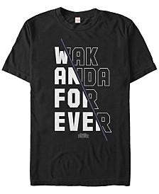 Marvel Men's Black Panther Slanted Wakanda Short Sleeve T-Shirt