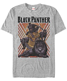 Men's Comic Collection Black Panther Power Pose Short Sleeve T-Shirt