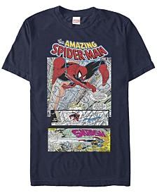 Marvel Men's The Amazing Spider-Man Comic Scene Short Sleeve T-Shirt