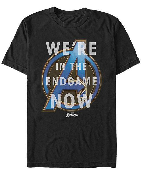 Marvel Men's Avengers Endgame We're In The End Now Quote Short Sleeve T-Shirt
