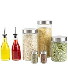 HDS Trading 7 Piece Kitchen Condiment and Canister Set