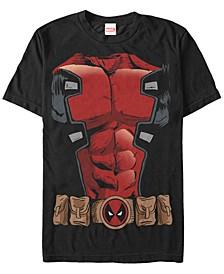 Men's Deadpool Chest Costume Short Sleeve T-Shirt