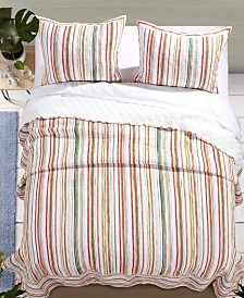 Greenland Home Fashions Sunset Stripe Quilt Set, 2-Piece Twin