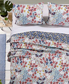 Greenland Home Fashions Perry Quilt Set, 3-Piece Full/Queen