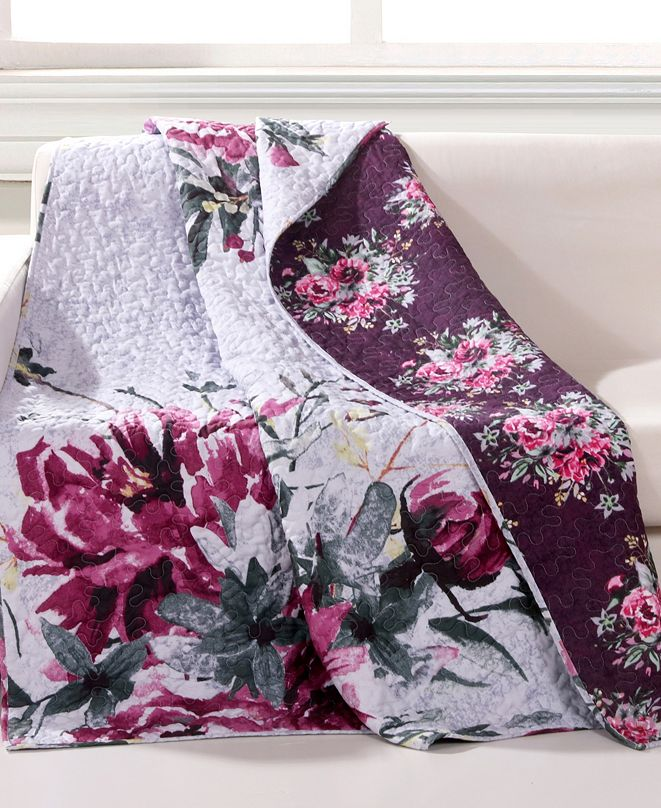 """Greenland Home Fashions Rose Touch Throw - 50"""" x 60"""""""