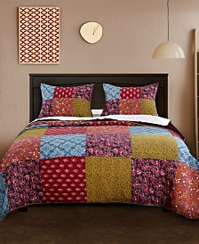 Greenland Home Fashions Normandy Quilt Set, 3-Piece Full/Queen