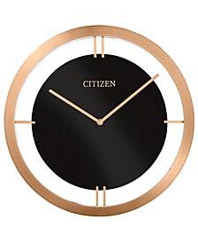 Gallery Black & Rose Gold-Tone Metal Wall Clock