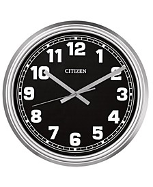 Gallery Indoor/Outdoor Silver-Tone Wall Clock