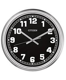 Gallery Indoor/Outdoor Silver-Tone Wall Clock